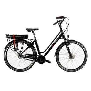 Devron 28124 28″ E-City 3 Speed 2019 Women Black 49 Cm